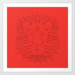 Poly-Lion Art Print