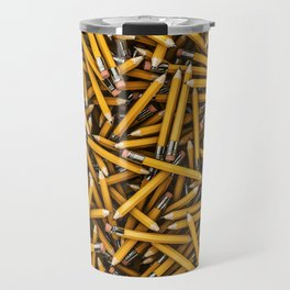 Pencil it in / 3D render of hundreds of yellow pencils Travel Mug