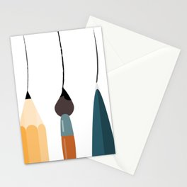 Choose your Tool: Pen, Pencil or Brush Stationery Cards