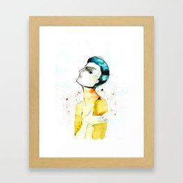 Go hug yourself Framed Art Print