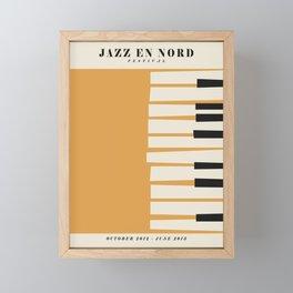 Vintage poster-Jazz festival-Jazz en nord 1. Framed Mini Art Print