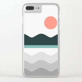 Abstract Landscape 05 Clear iPhone Case