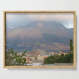 """""""Papa"""" Imbabura Volcano: Cotacachi Ecuador Serving Tray"""