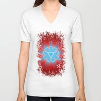 ironman V-neck T-shirts featuring Ironman by Some_Designs
