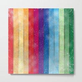 Colorful stripes Metal Print