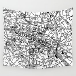Vintage Map of Paris (1911) Wall Tapestry