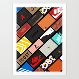 Sneaker Box Poster Art Print