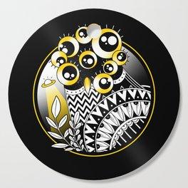 Extraterrestrial Owl Cutting Board