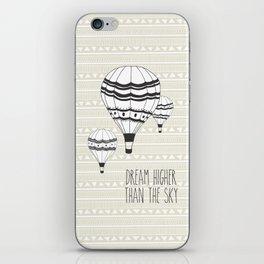 Higher than the sky iPhone Skin
