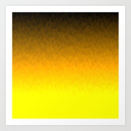 Black Orange Yellow Ombre Flames Art Print