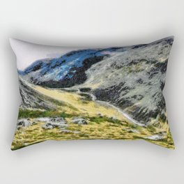 The top of Ben Nevis, Scotland, is shaded by clouds. Rectangular Pillow