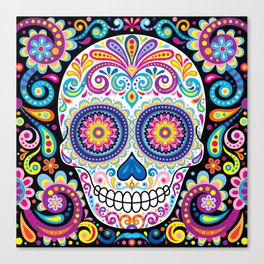 Sugar Skull (Cosmos) Canvas Print