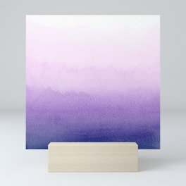Purple Watercolor Design Mini Art Print