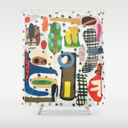 Speech Bubble Shower Curtain