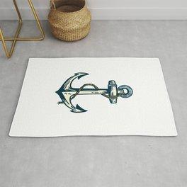 Anchor Illustration Rug
