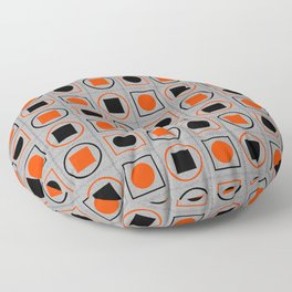 Rounds and Squares (Orange 1) Floor Pillow