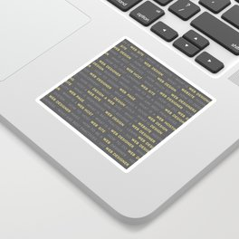 Yellow Web Design Keywords Poster Sticker
