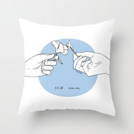 Still Naive Throw Pillow