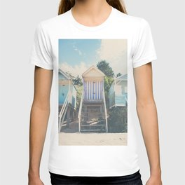 beach huts photograph T-shirt