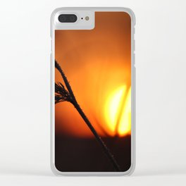 Good Morning Sun Winter Scene #decor #society6 Clear iPhone Case
