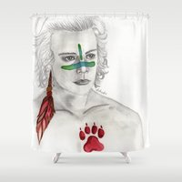 indian Shower Curtains featuring Indian by AidenArt