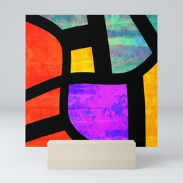 All the Right Angles, Abstract Art Mini Art Print