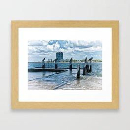 Stormy River Framed Art Print