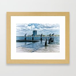 Stormy River Framed Art Print