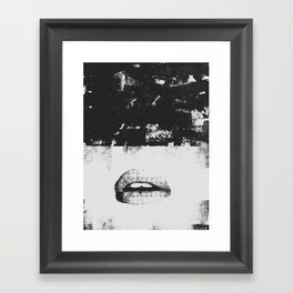 Dirty Kiss Framed Art Print