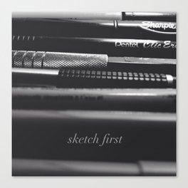 Sketch first Canvas Print