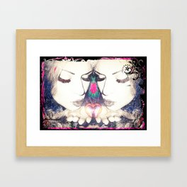 REROUTE TO REMAIN HEART. Framed Art Print