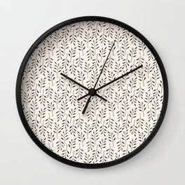 Botanical Mellow Smaller Pattern Wall Clock