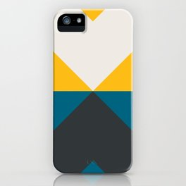 Split X Teal & Yellow iPhone Case
