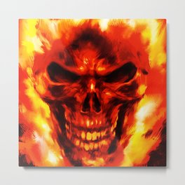 ghost fire Metal Print