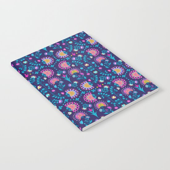Folkloric In Blue Notebook