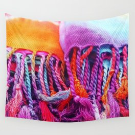 Rainbow tassels Wall Tapestry