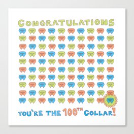 100th Collar! Canvas Print