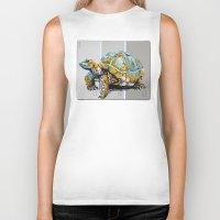 tortoise Biker Tanks featuring Tortoise by aceta