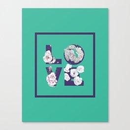 Floral Uv LOVE #society6 #love #ultraviolet Canvas Print