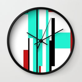 """CREATIVE ART PRINT WITH RED, CYAN AND BLACK """"THE PAM"""" Wall Clock"""