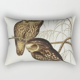 Spotted Owl (Athene maculate) illustrated by Elizabeth Gould (1804-1841) for John Goulds (1804-1881) Rectangular Pillow