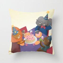 Birthday Party Throw Pillow