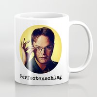 dwight schrute Mugs featuring Perfectenschlag  |  Dwight Schrute by Silvio Ledbetter