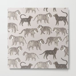 Gray Tigers Metal Print