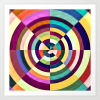 Playing Darts with Colours Art Print