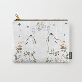 Two wolves howling Carry-All Pouch