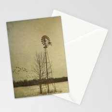 While the wind moans a dirge to a coyote's cry... Stationery Cards