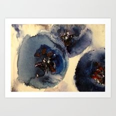 Bluberries Art Print