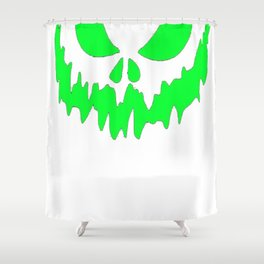 Scary Face Halloween Tshirt- Glow in the Dark Effect Print Shower Curtain