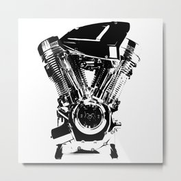 Motorcycle Engine Metal Print
